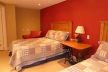 Large bedroom with 2 double beds