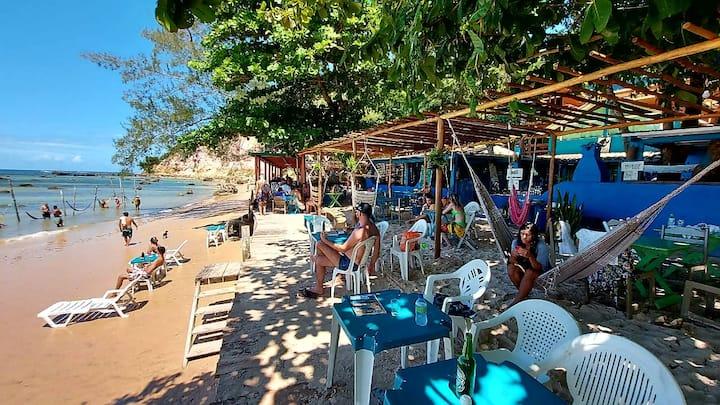 Maravilhosa suite na praia ao lado da argila