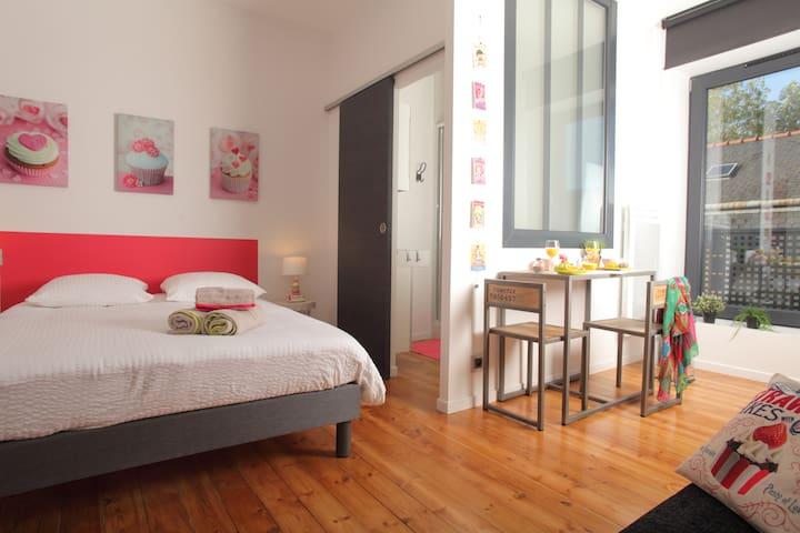 studio gourmand centre ville 2 pers wifi appartements en r sidence louer quimper. Black Bedroom Furniture Sets. Home Design Ideas