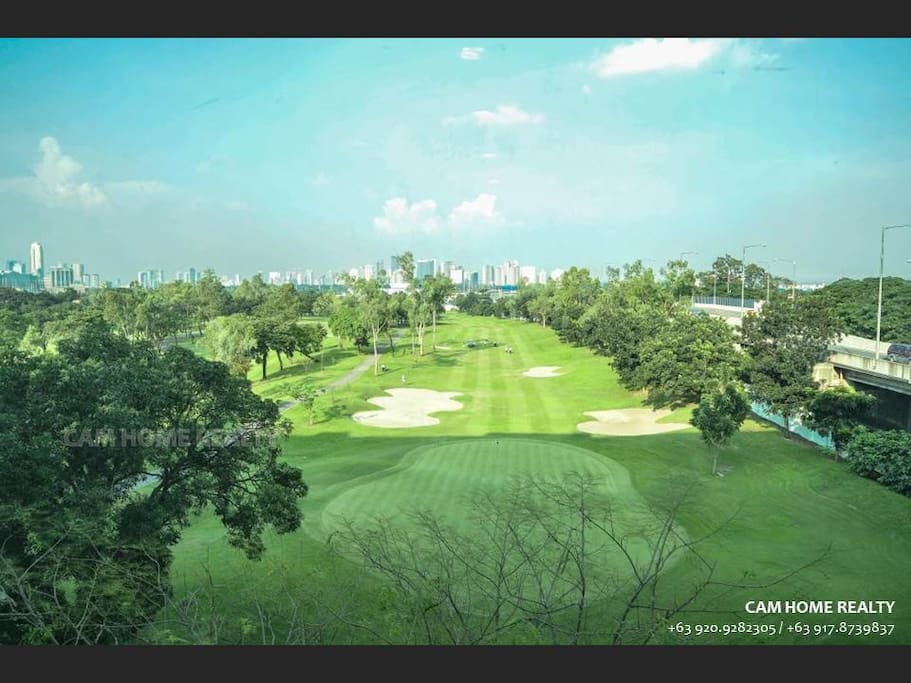 Villamor Golf Course view from the elevator