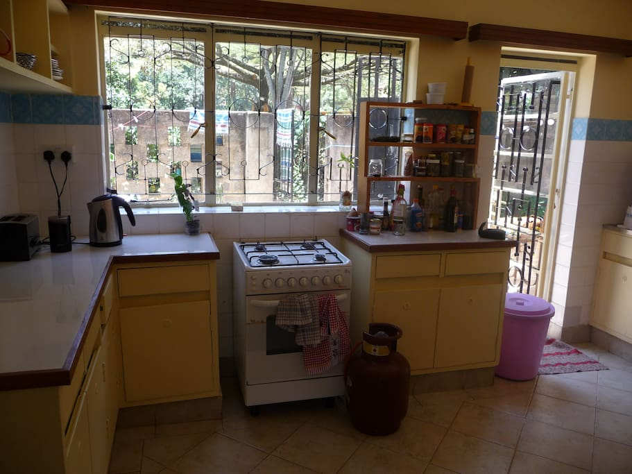 The kitchen is at your disposal- right next to the garden