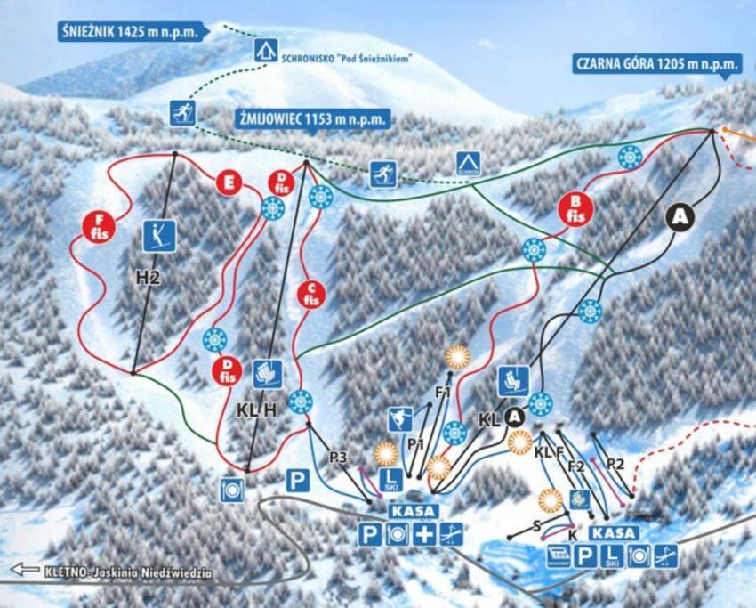 Czarna Góra - popularny ośrodek narciarski