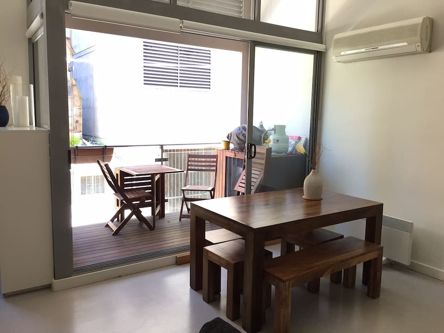 Dining/ outdoor balcony including barbecue