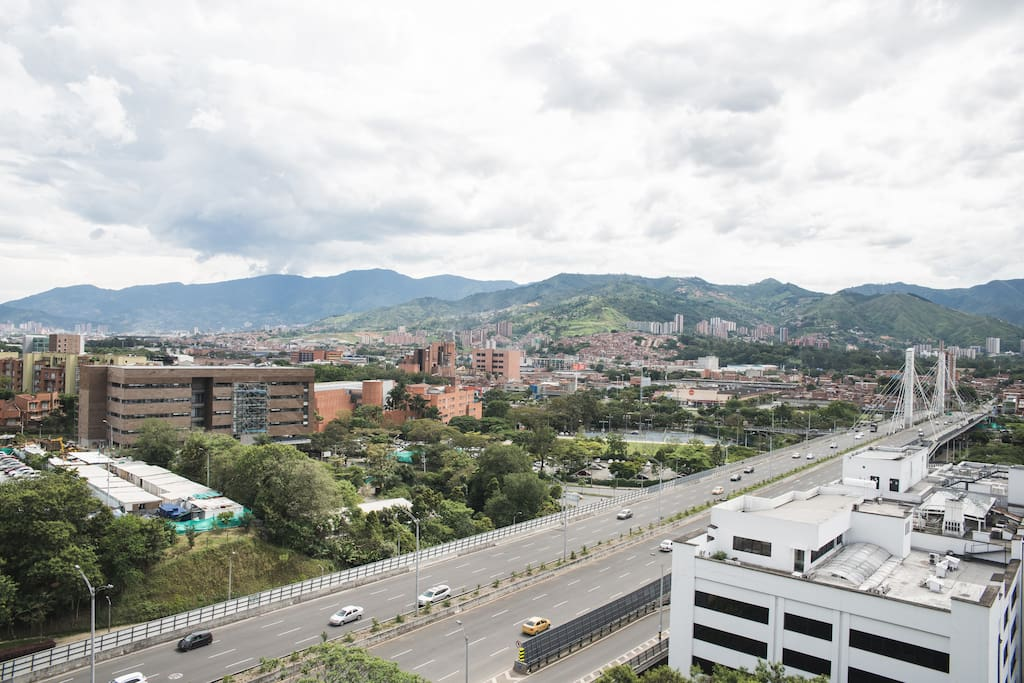 Awesome view of Medellin from the balcony and bedroom!