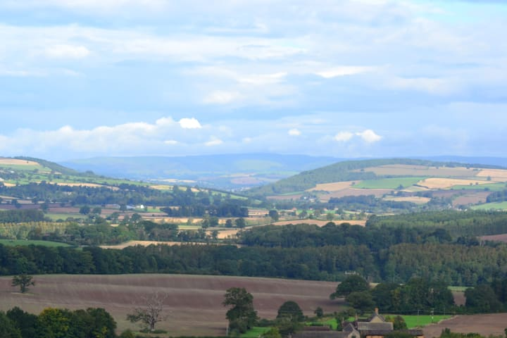 A view from The Poles towards the Long Mynd