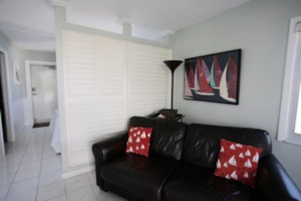 Privacy shutters for bedroom area