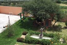 Vista del jardín desde segundo piso
