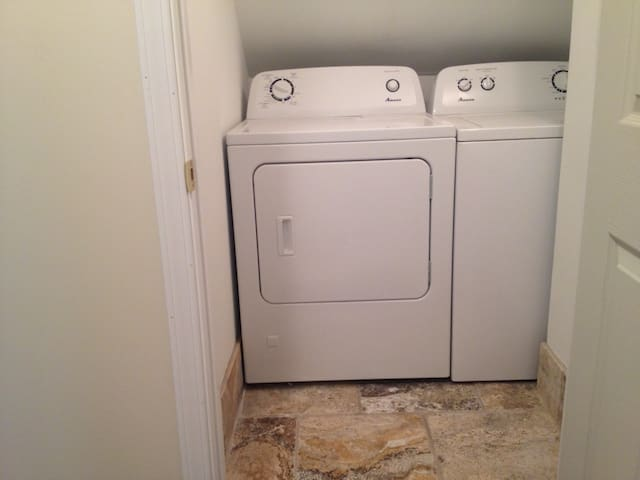 Free washer and dryer on premises.