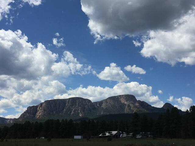 Hermit's Peak from our meadow