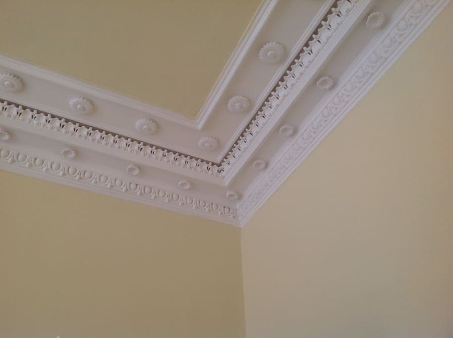 A bit of the traditional ceiling cornice