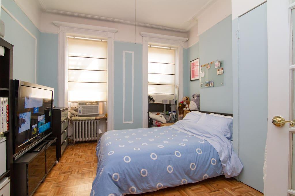View of the big bedroom