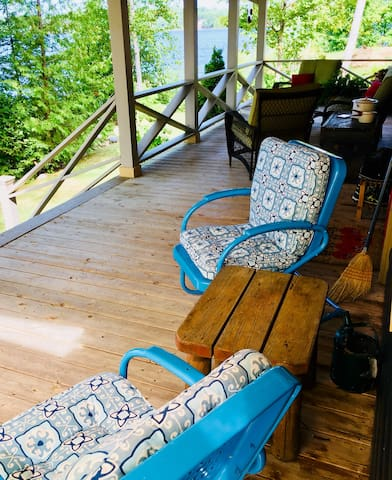 Front porch overlooking Golden Lake