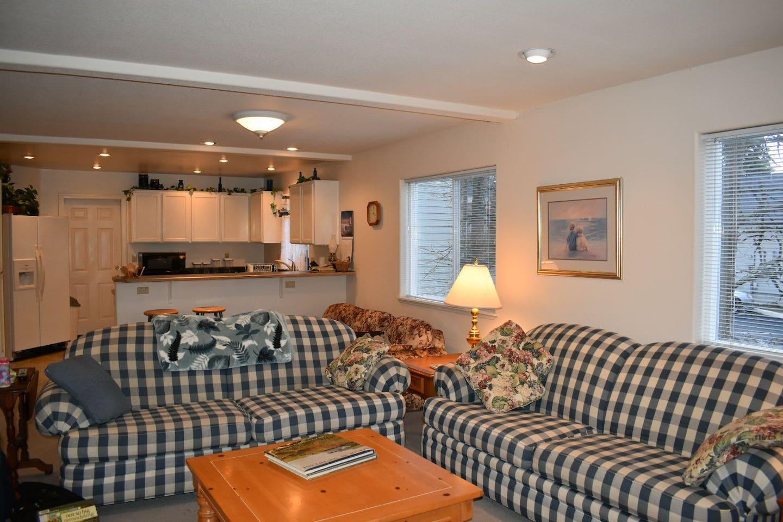Spacious living room with open floorplan.
