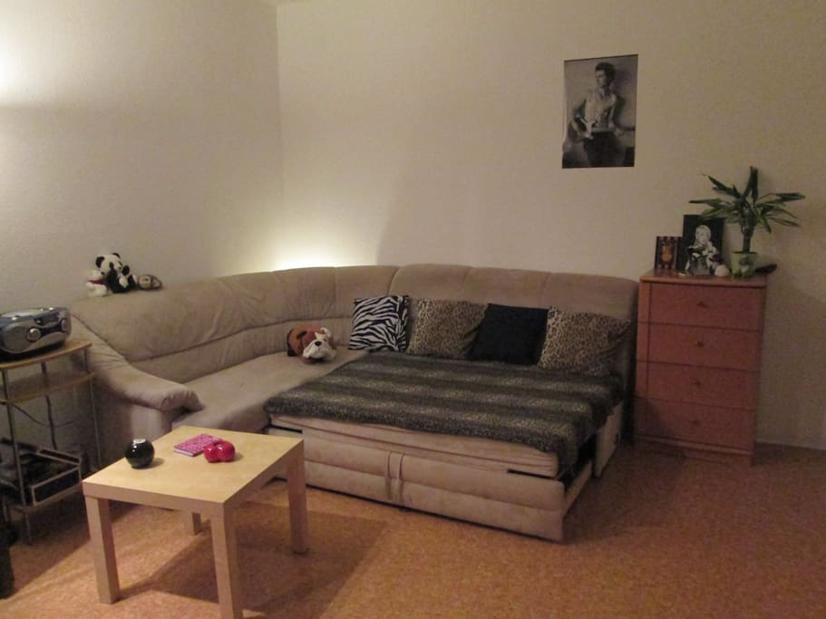 Big cosy couch,ideal for 2 persons as well.