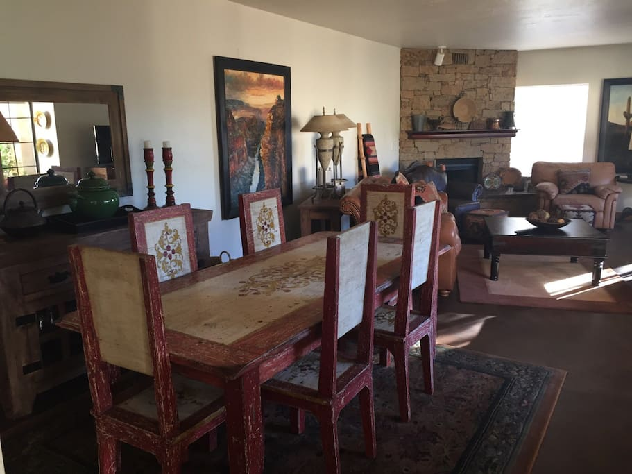 Dining area of great room