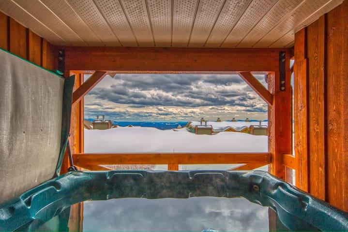 3 BR & 3 bath w/private hot tub Ski in/Ski out