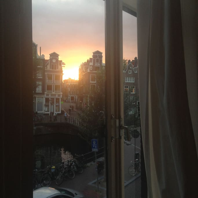 Sunset from the window..
