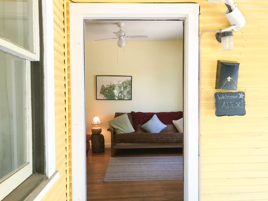 Entry to your cozy hideaway! Lets go inside!