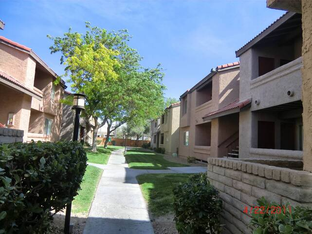 Courtyard of the condo complex