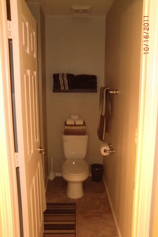 Bathroom with linens