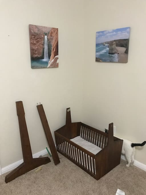 Crib can be put together if needed
