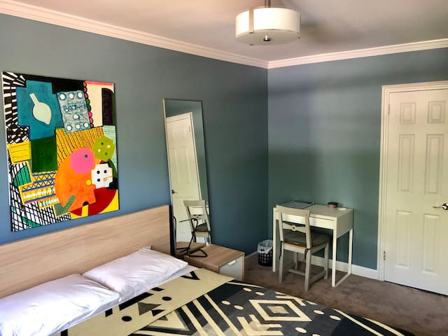 Room was recently renovated and refurnished with brand new carpet. Ample closet space for your belongings.