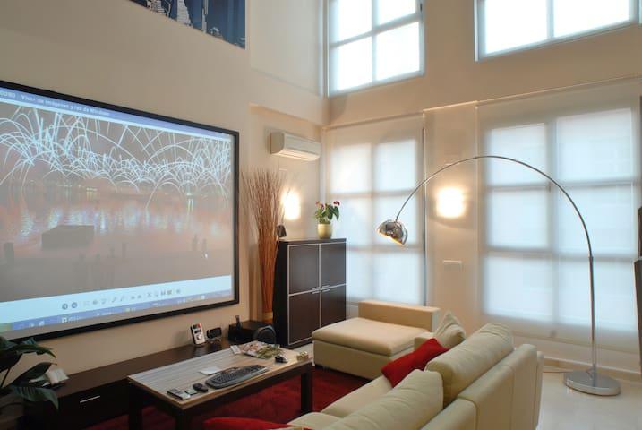 LOFT SPECTACULAIRE DE TROIS ÉTAGES - Madrid - Appartement