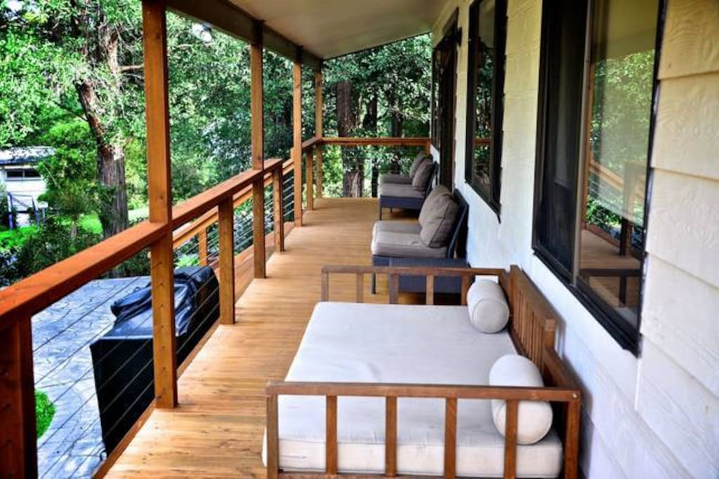 Front deck facing lake