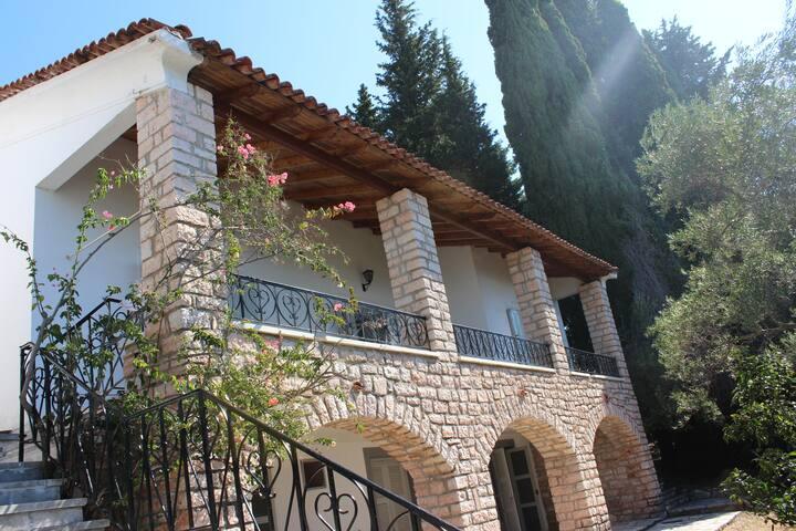 Villa Valerios, beach front house.