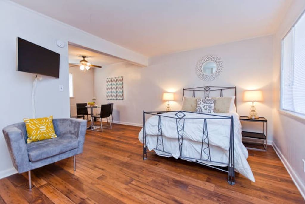 Each condo can hold 2-4 people. Book each condo separately
