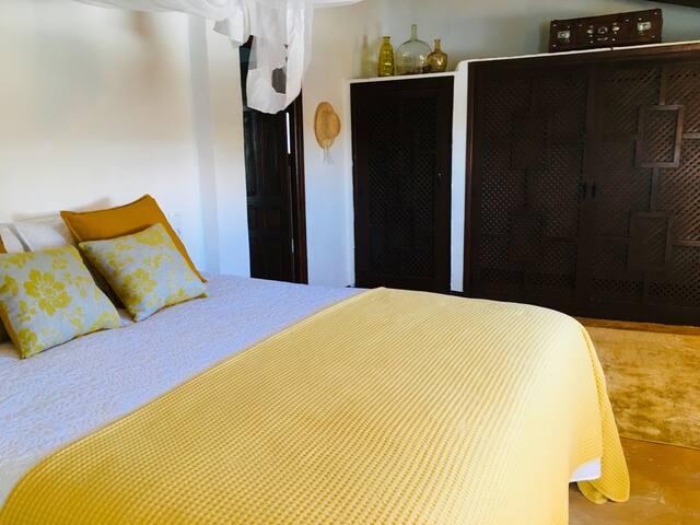 """Big inbuilt wardrobe in the master """"yellow"""" bedroom"""