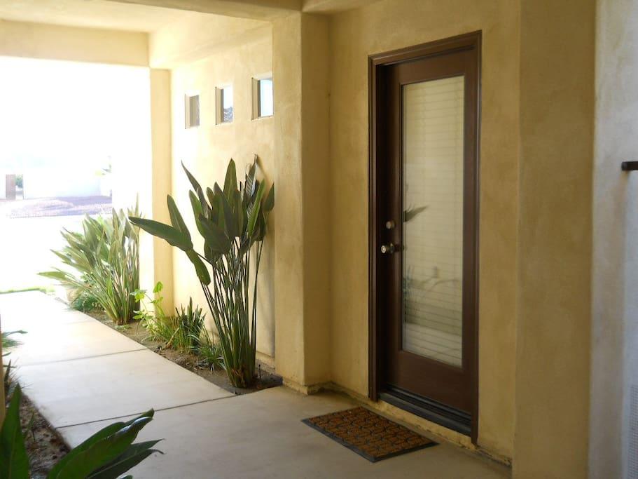 Private entry door into casita.