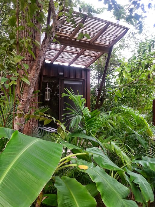 An outside view of one of our double rooms and its private, non smoking terrace.