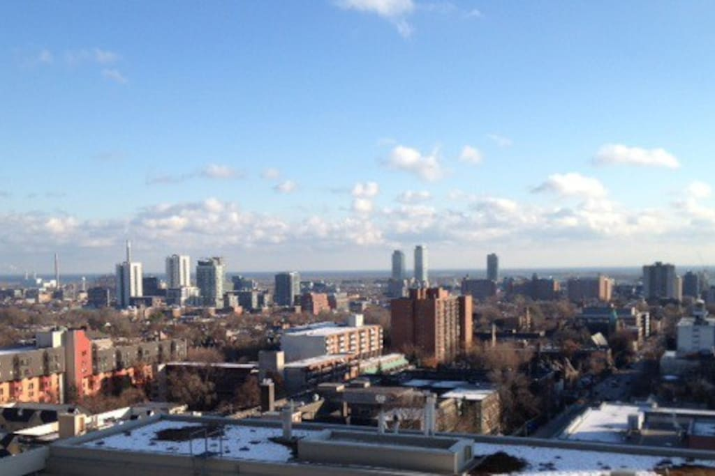 View of City and Lake Ontario