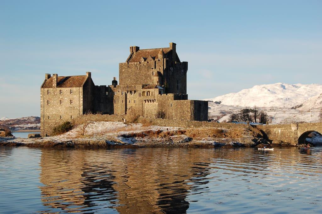 Eilean Donan Castle only 8 miles away