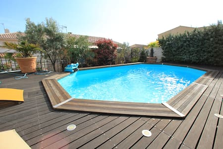 Villa mit hauseigenem Pool und Meerblick - Sausset-les-Pins - Villa