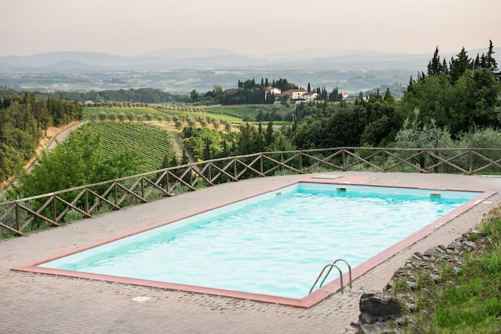 CHIANTI NEST WITH POOL AND TENNIS - Loc.Granaio Poggibonsi (Siena) - Departamento