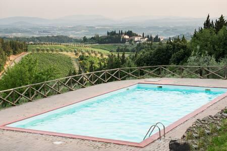 CHIANTI NEST WITH POOL AND TENNIS - Loc.Granaio Poggibonsi (Siena) - Apartmen