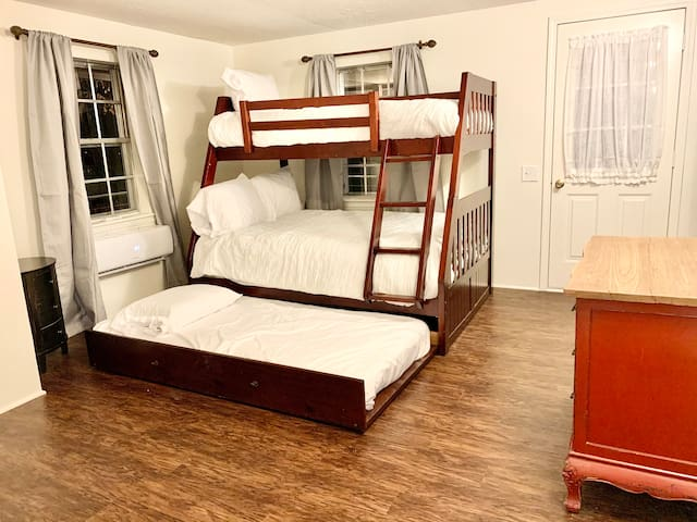 Please note this bedroom is not private. Guests enter through this bedroom to enter into bedroom #1 and bedroom #3.