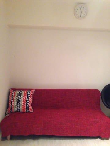 single size sofa bed.