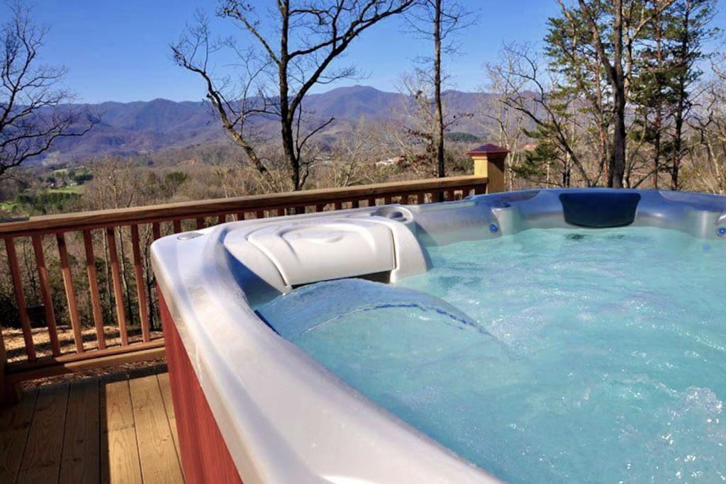 Amazing View While Relaxing in the Hot Tub
