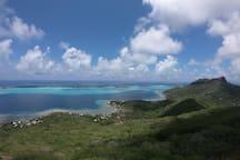 Vu de la baie de faanui du mont popoti