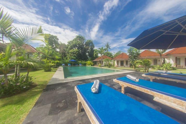 Luxury Bungalow Cabin+ pool★Canggu★Breakfast incl
