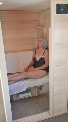 Our Medical Grade Sauna Ray FAR Infra-red sauna...Come pamper yourself.