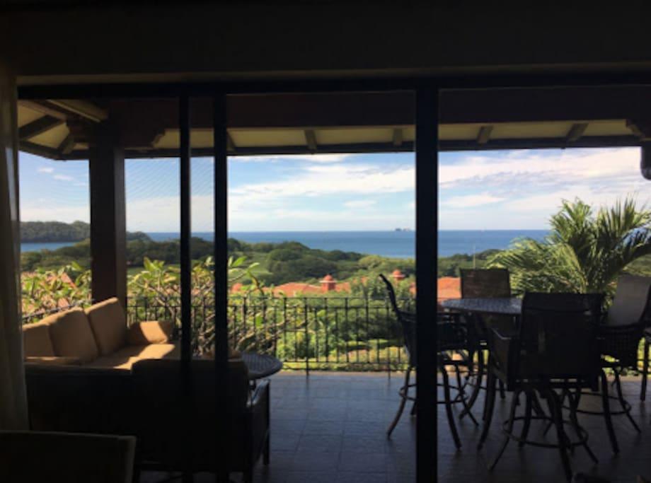 Super balcony overlooking million dollar ocean view