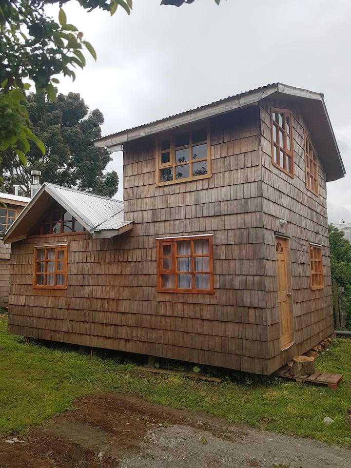 Cabaña ViveChiloé Fiura. 2 a 5 personas