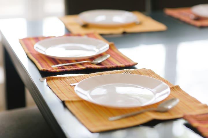 Cutlery provided.