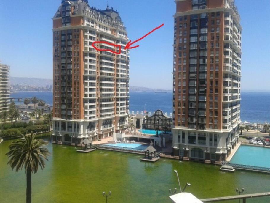 Preciosa vista en el mejor edificio de viña del mar/ Stunning views in the best building complex in viña