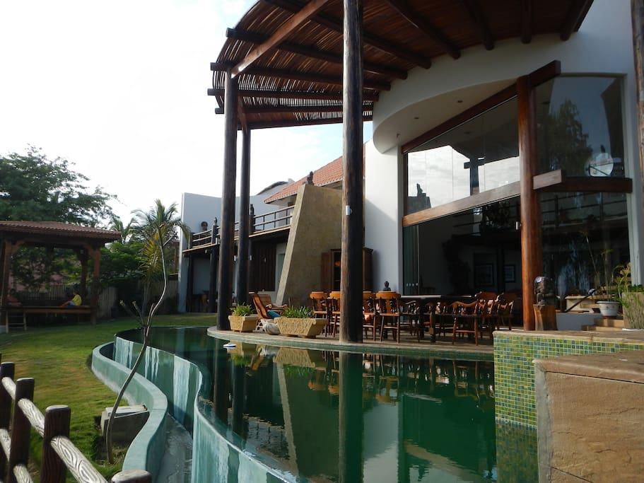 The new italian tile pool and terrace