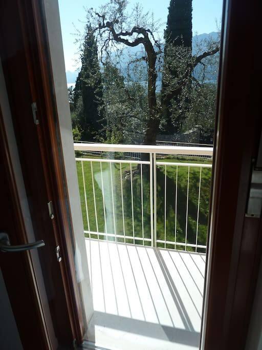 balcony and private garden
